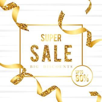Super venta 80% de descuento vector de señal