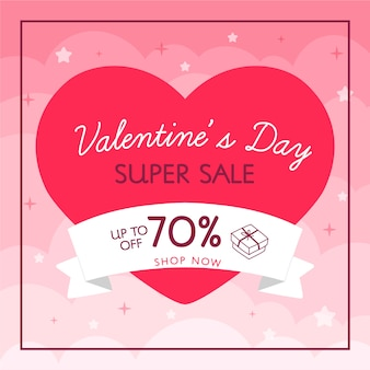 Super venta corazón y cinta venta de san valentín