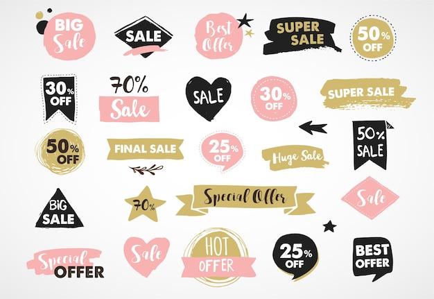 Super venta etiquetas, moderntickers y diseño de plantillas de etiquetas.