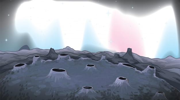 Una superficie de fondo de la luna.