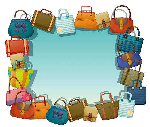 Una superficie vacía rodeada de diferentes bolsas.