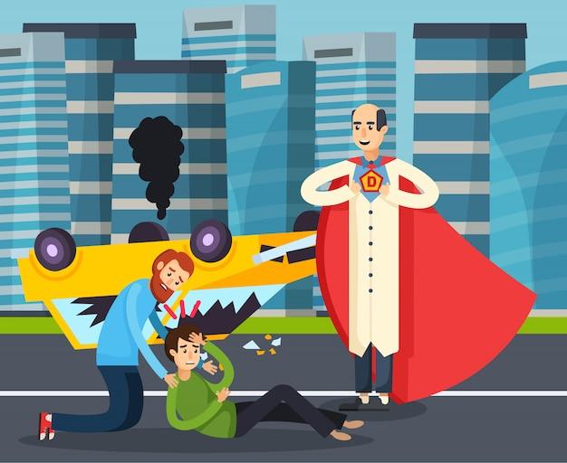 Superhero urban flat