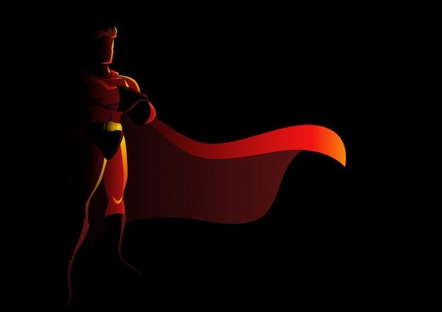Superhéroe en actitud galante