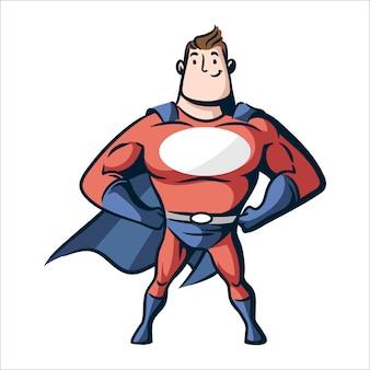 Superhéroe de dibujos animados