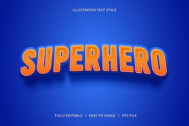 Superhéroe, efecto de texto editable moderno