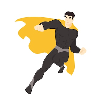 Superhéroe fantástico volando
