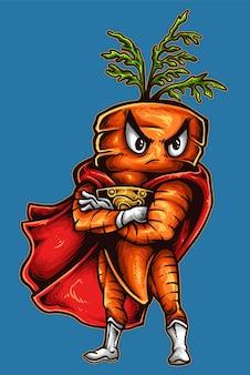 Superhéroe zanahoria