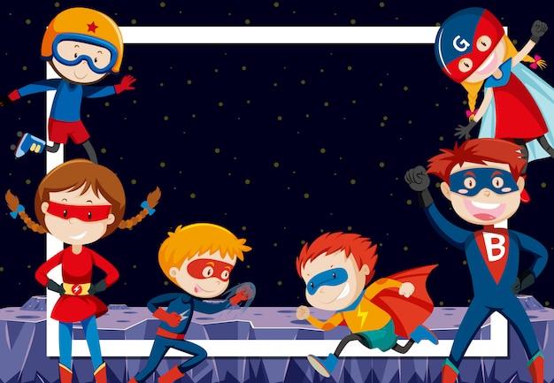 Superhéroes en el espacio exterior