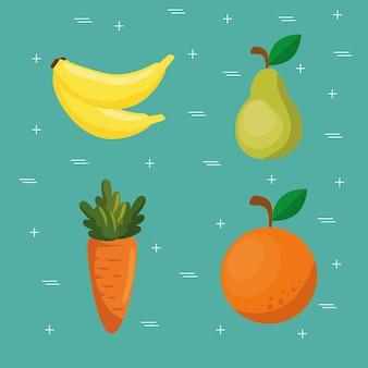 Supermercado comestibles comida sana
