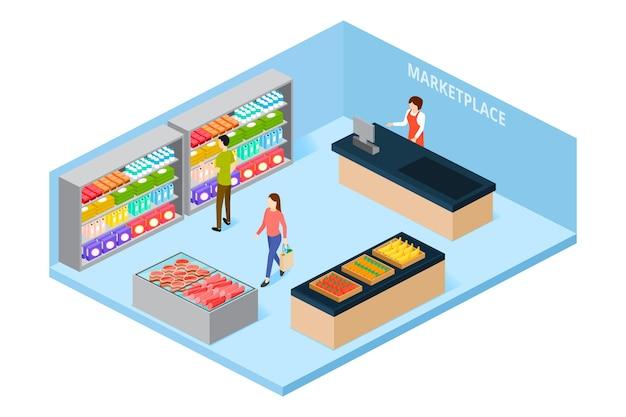 Supermercado isométrico