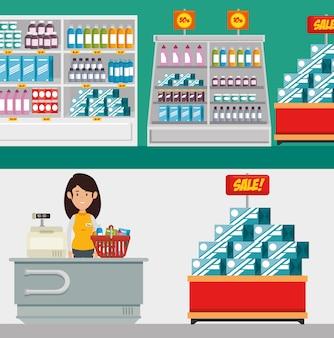 Supermercado tienda consumerismo