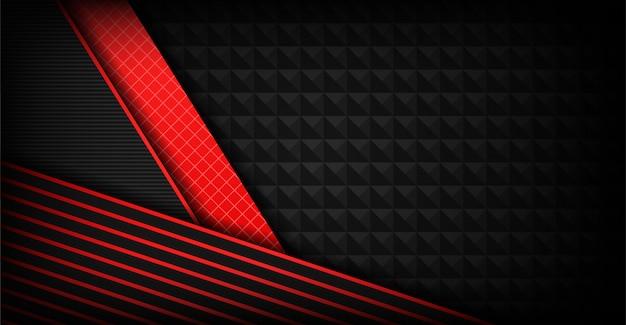 Superposición de fondo gris oscuro abstracto con formas rojas