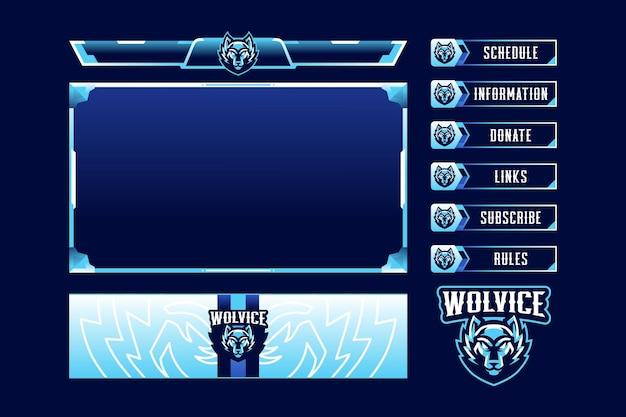 Superposición de panel de juego wolvice