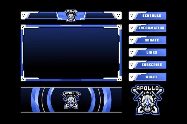 Superposición del panel de juegos apollo
