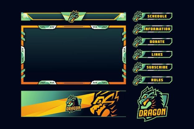 Superposición del panel de juegos de dragon
