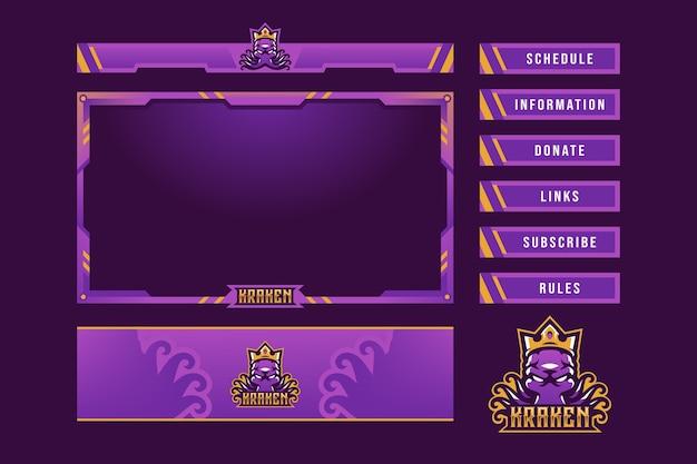Superposición del panel de juegos kraken
