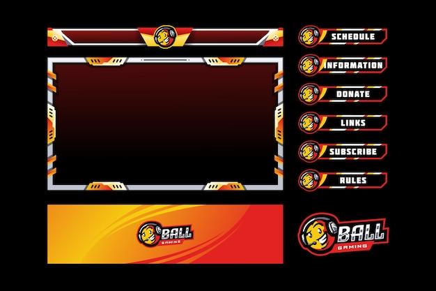 Superposición del panel de juegos de pelota