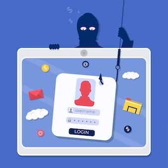 Suplantación de cuentas en línea de otras personas