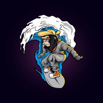 Surfista mono