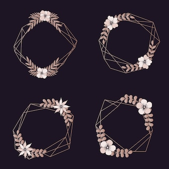 Surtido de bordes geométricos de boda