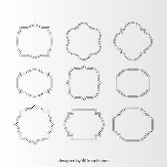 Surtido de elegantes marcos decorativos