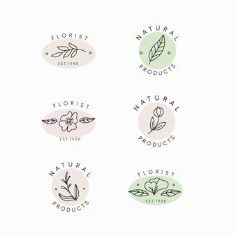 Surtido de logotipos de estilo minimalista