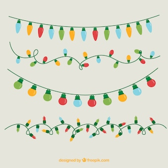 Surtido de luces de navidad de colores