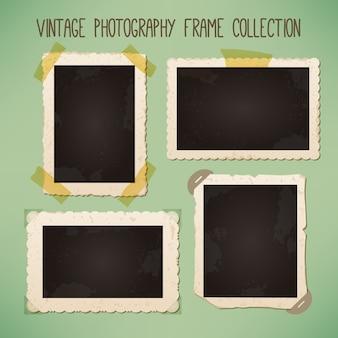 Surtido de marcos de fotos vintage