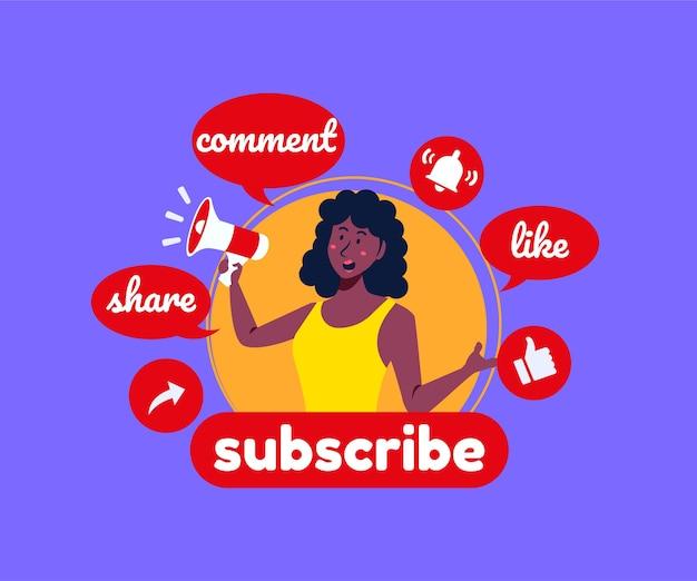 Suscribir comentarios y me gusta en las redes sociales de youtube