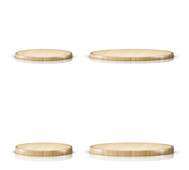 Tabla de cortar o bandeja de madera, realista