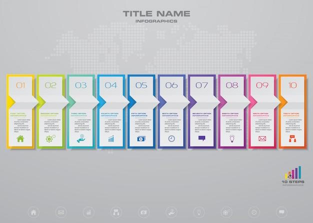 Tabla de elementos de infografía.