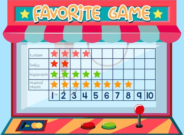 Tabla de juego de matemáticas