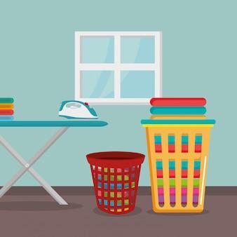 Tabla de planchar con servicio de lavandería