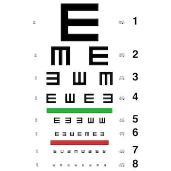 Tabla de prueba de ojo de vector.