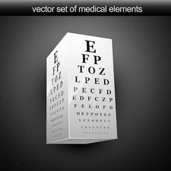 Tabla de vision ocular