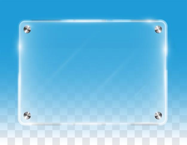 Tablero de acrílico de pared brillante transparente real