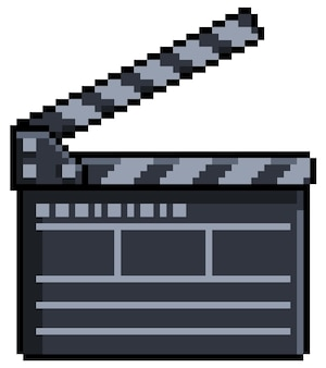 Tablero de azote de película pixel art para juego de bits