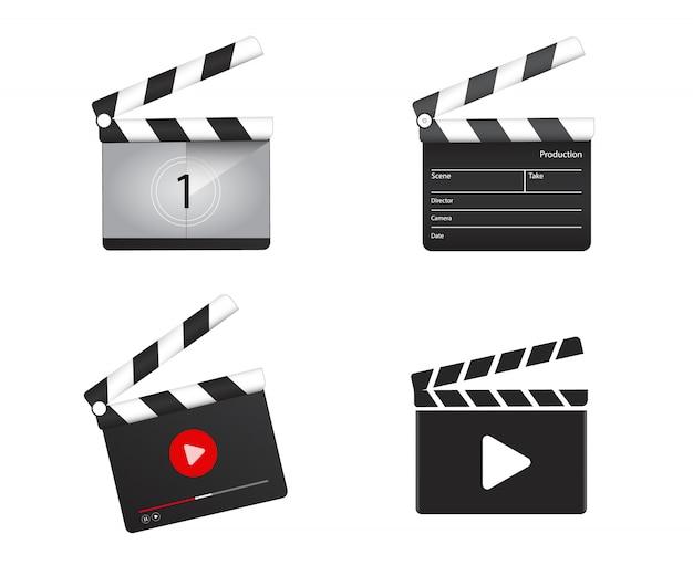 Tablero de badajo realista con cuenta regresiva de películas