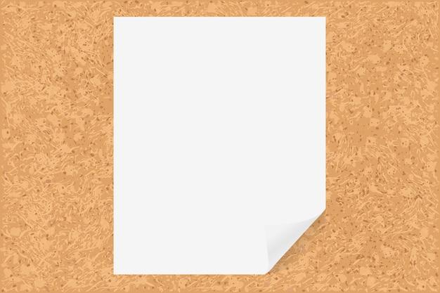 Tablero de corcho con papel, ilustración