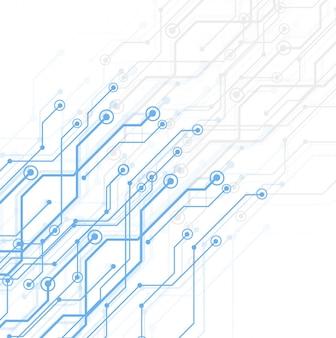 Tablero de circuitos de tecnología abstracta