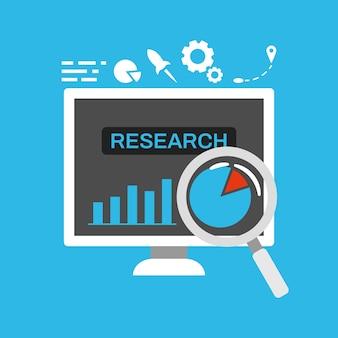 Tablero de la computadora empresarial con datos estadísticos para la investigación