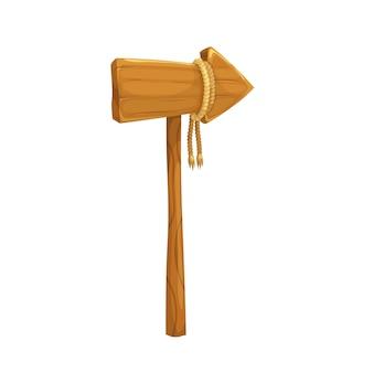 Tablero de flecha de madera o poste indicador