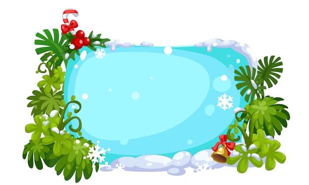 Tablero de hielo feliz navidad