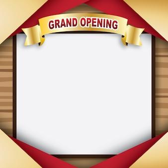 Tablero de madera en blanco para la gran inauguración ilustración vectorial