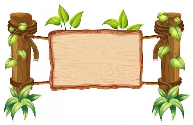 Tablero de madera en blanco de la naturaleza