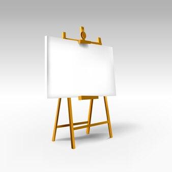 Tablero de madera en blanco vacío. construcción de caballete para diseño, escuela, publicidad.