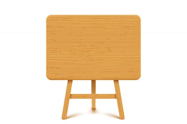 Tablero de madera en blanco
