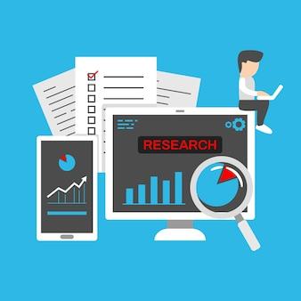 Tablero de negocios con datos estadísticos para la investigación