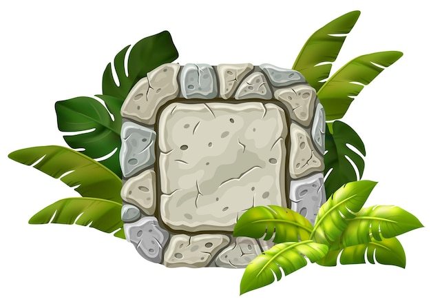 Tablero de piedra decoración hojas de liana