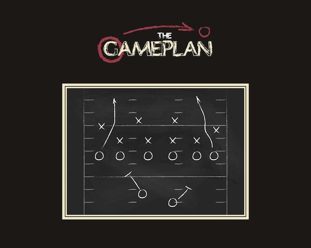 Tablero de plan de juego de fútbol americano